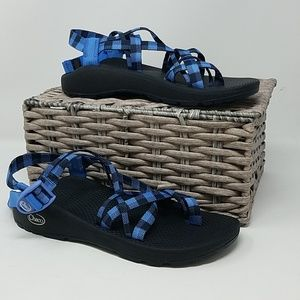 NWOB Chaco Sandals Womens 10 Checker Eclipse B9D
